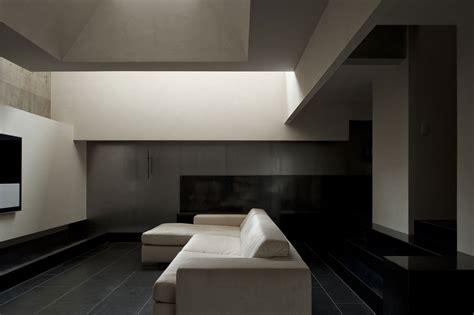 modern black floor l house of silence by form kouichi kimura architects