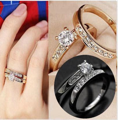 jewelry wedding band simulated diamond rings k gold plating ring swarovski crystal ring 2016