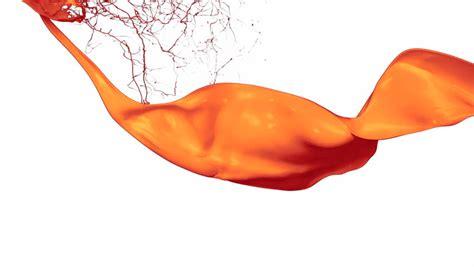 orange paint splash in the video de stock totalmente
