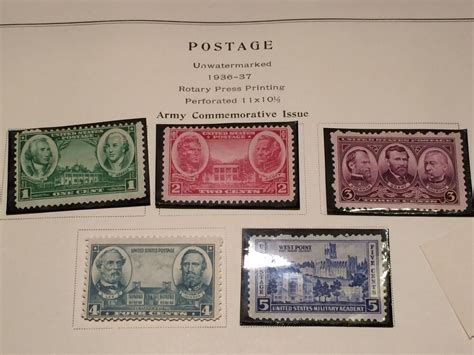 Us Postage Stamps Army Commemorative Issue