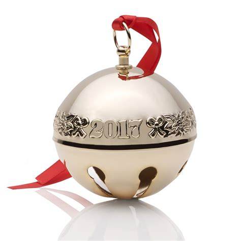wallace gold sleigh bell ornament 2017 wallace ornament - Wallace Christmas Ornaments