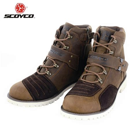 best street bike boots scoyco motorcycle touring boots vintage design casual wear