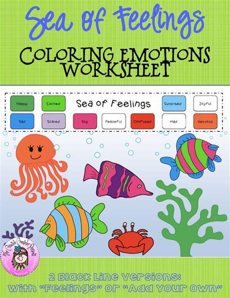 sea  feelings coloring emotions worksheet