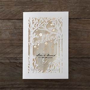 woodlands scenery rustic laser cut giant wedding creations With custom laser cut wedding invitations uk