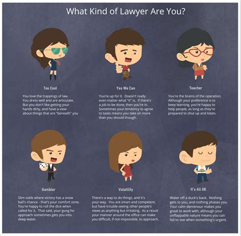 Infographic Friday 6 Types Of Lawyers  Business Of Law Blog