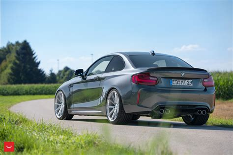 a bmw m2 gets silver vossen vfs 1 wheels installed