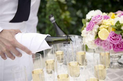 serving champagne  wine   wedding