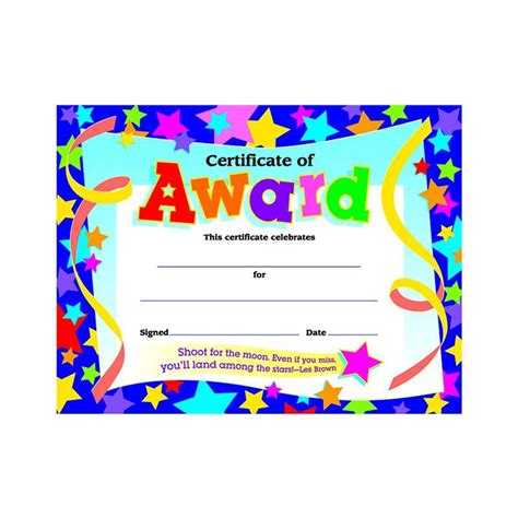 certificate  award stars pk projects