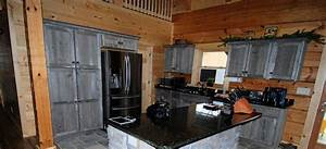 Weathered Gray Barn Wood Kitchen — Barn Wood Furniture