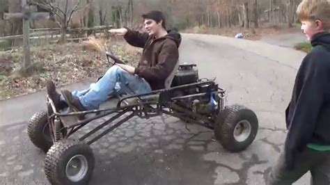 Riding Around On The Lifted Go Kart