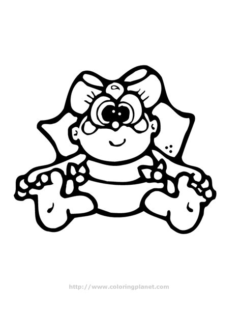 baby girl coloring pages coloring home