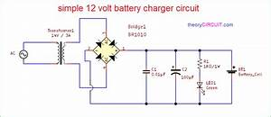 Simple 12 Volt Battery Charger Circuit Diagram