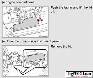 For A 2010 Toyota Camry Fuse Panel Diagram