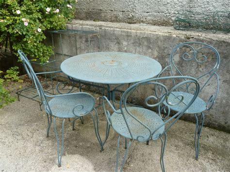 table de jardin en fer forge occasion salon de jardin fer forg 233 jardin