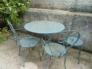 Salon De Jardin Fer Forgé Occasion : table exterieur fer forg salon jardin fer forg fer forge ~ Teatrodelosmanantiales.com Idées de Décoration
