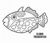 Triggerfish Clown Trigger Kleurend sketch template