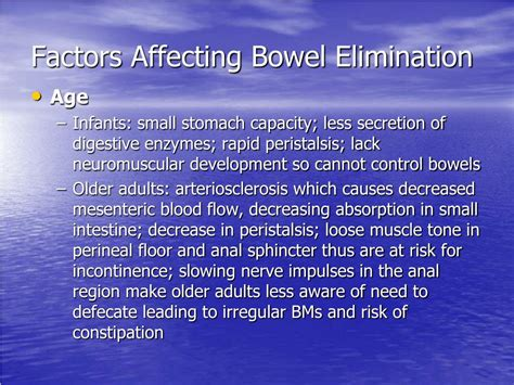 Ppt Chapter 46 Bowel Elimination Powerpoint