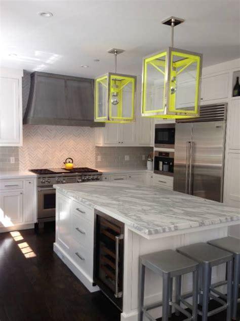 island wine fridge contemporary kitchen evars