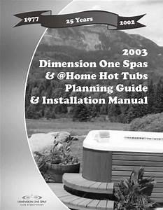 Dimension One Spas Hot Tub User Manual