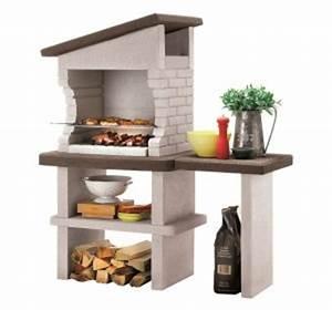 Barbecue En Dur : un barbecue fixe en pierre pour votre jardin habitatpresto ~ Melissatoandfro.com Idées de Décoration
