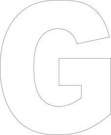 Free Printable Alphabet Templates Letter G