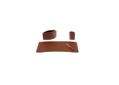 set de bureau cuir set de bureau 4 pièces brando en cuir régénéré
