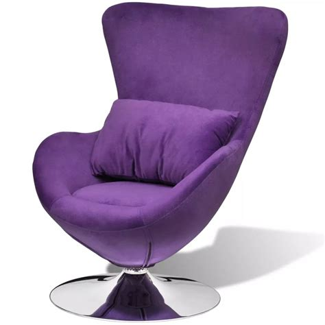chaise oeuf unique modern design small purple egg swivel chair with