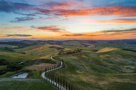 Val Dorcia Sunset Dronestagram