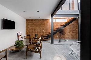 Exposed Brick Walls Steal the Show in this Modern ...