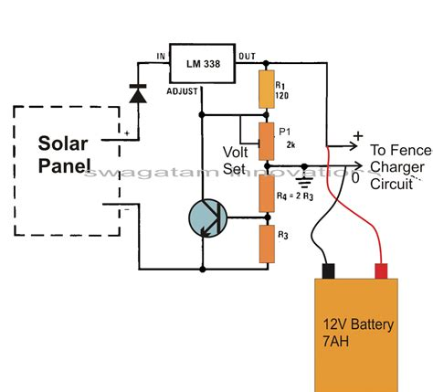 Make This Solar Powered Fence Charger Circuit Homemade