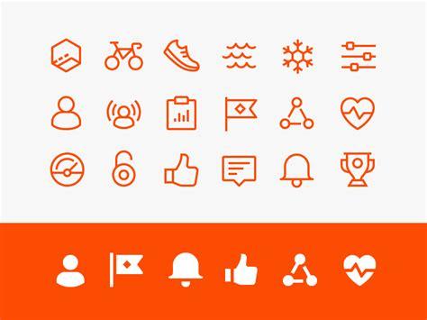 strava app iconography iconography icon set  icons