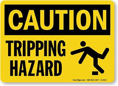 Sign Hazard Tripping Caution Signs Trip Slip