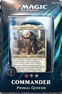 Magic the gathering, magic cards, singles, decks, card lists, deck ideas, wizard of the coast, all of the cards you need at great prices are available at cardkingdom. MAGic The Gathering Commander Deck PRIMAL GENESIS MTG 3 LEGENDARY FOIL CARDS NIB 630509892495   eBay