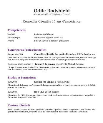 Exemple De Cv Travail by Exemple De Cv Pour Travailler