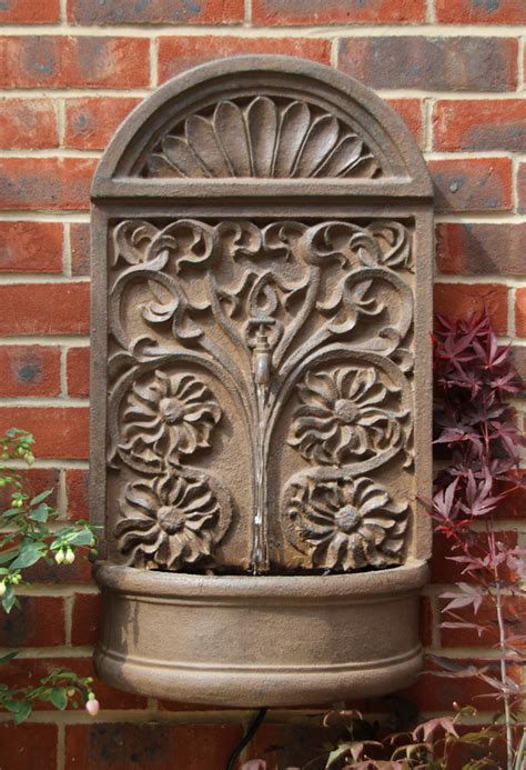 wall water mounted feature fountain rust arbury effect ambiente vat inc