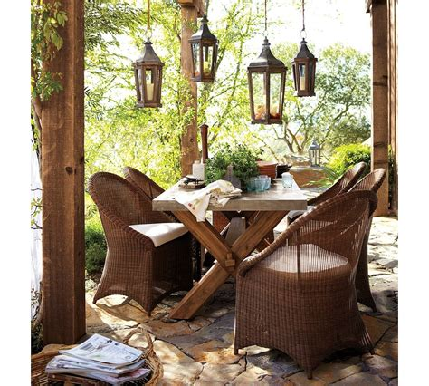 pottery barn rustic wicker outdoor furniture interior