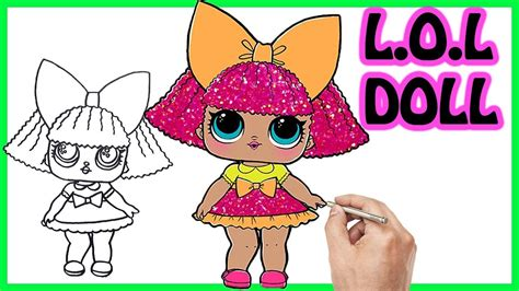 draw sparkle lol surprise doll easy step  step