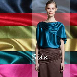 Spannbettlaken Polyester Satin : buy big sale 59 150cm width silk satin ~ Michelbontemps.com Haus und Dekorationen