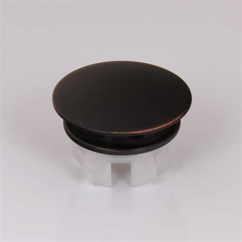 elite orb ceramic sink overflow cap solid brass