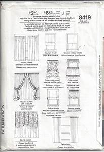 Simplicity 8419 Pattern  Instructions For 10 Window