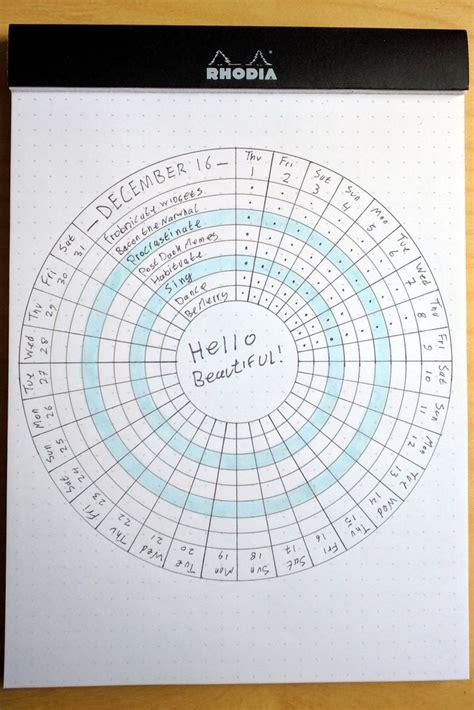 circular habit tracker   bullet journal tracker