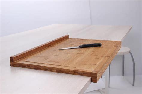 planche bar cuisine planche de travail en bambou grand modèle avec rebord