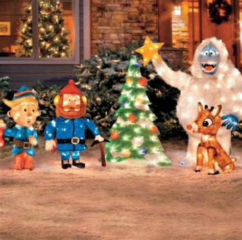rudolph the nosed reindeer friends tinsel outdoor - Rudolph Outdoor Decorations
