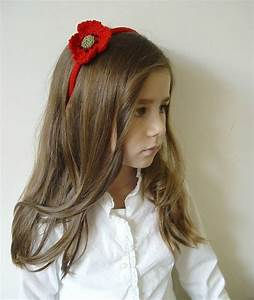 Handmade Organic Poppy Hairband By Nyoki Handmade London