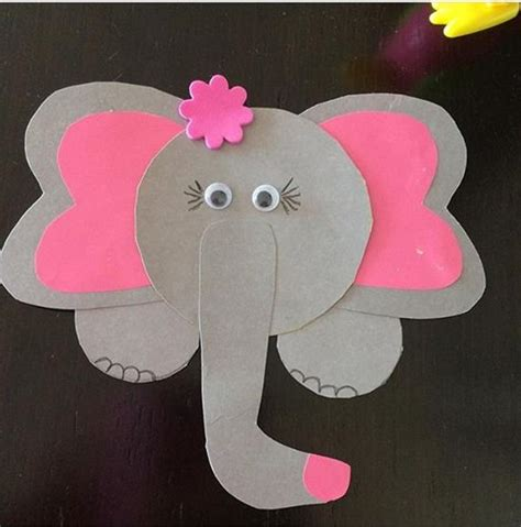 elephant art  craft  preschool funny crafts