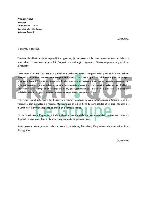 lettre de motivation pour un emploi d expert comptable