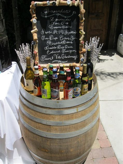 rustic country wine barrel wedding ideas   puff
