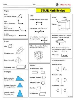 4th grade math staar review study guide by dc klein tpt