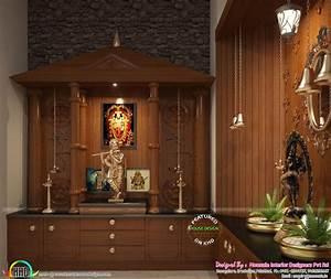 ultra modern home with interior design kerala home With interior decoration pooja room