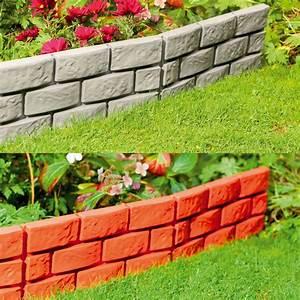Parkland, Instant, Brick, Effect, Hammer, In, Plastic, Garden, Lawn, Edging, Plant, Border